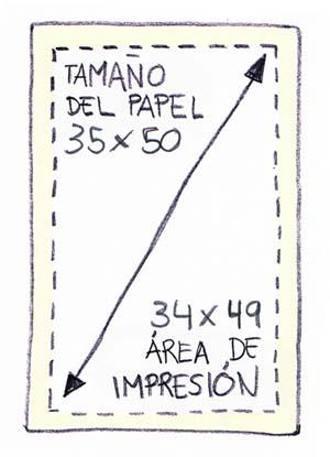 papel a tamaño